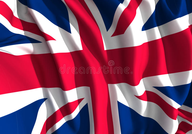 Drapeau britannique illustration libre de droits
