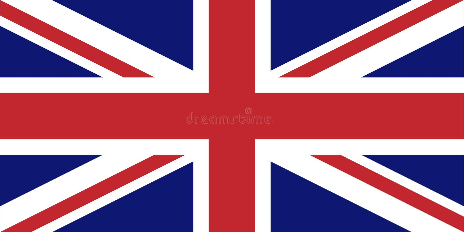 Drapeau britannique illustration stock