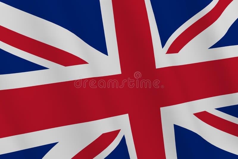 Drapeau britannique rendu 3d illustration de vecteur
