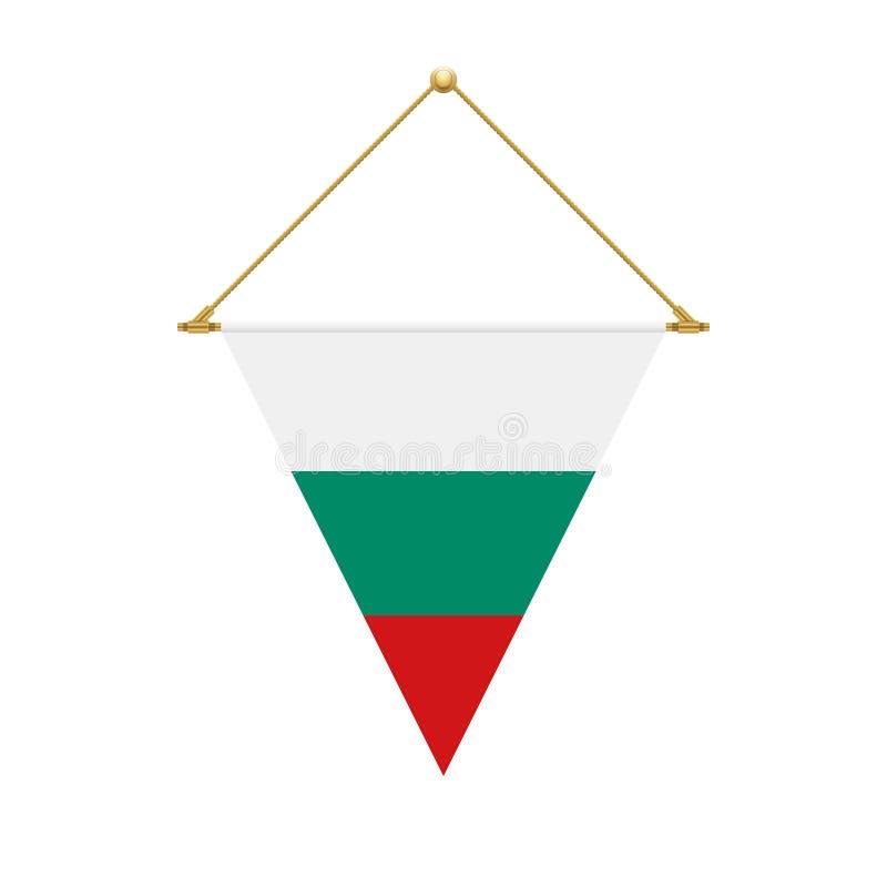 Drapeau bulgare de triangle accrochant, illustration illustration de vecteur