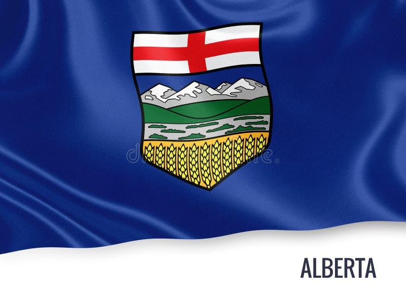Drapeau canadien d'Alberta d'état illustration stock