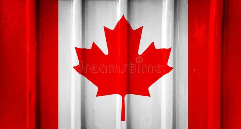 Drapeau canadien grunge image stock