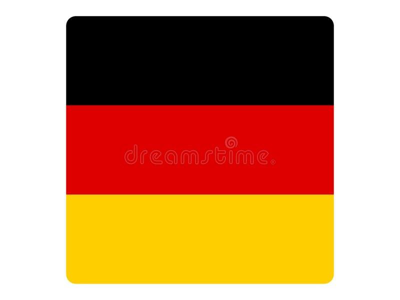 Drapeau carré de l'Allemagne illustration de vecteur