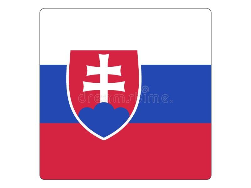 Drapeau carré de la Slovaquie illustration stock