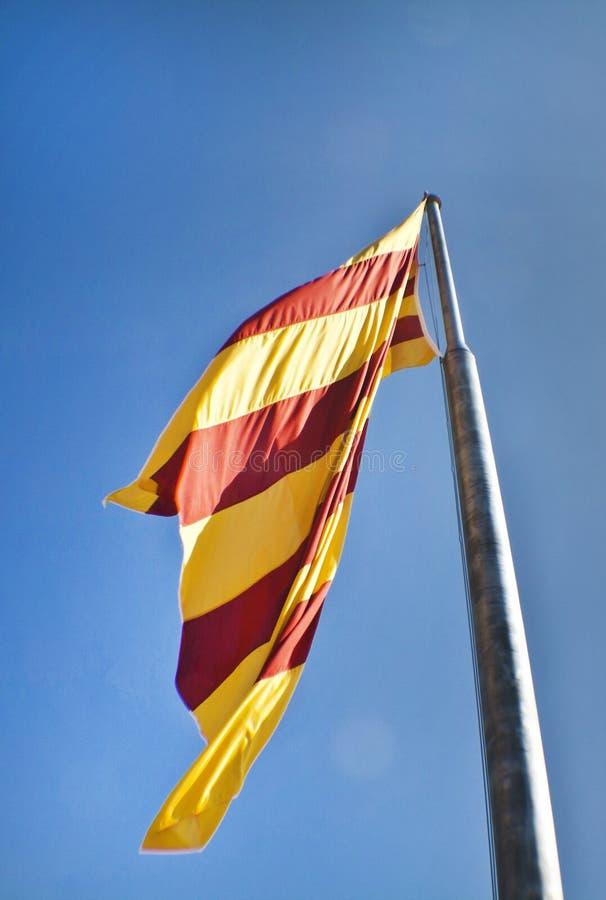 Drapeau catalan photo stock