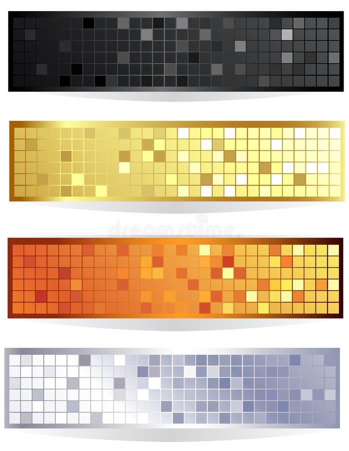 Drapeau checkered horizontal illustration libre de droits