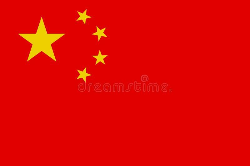 Drapeau chinois, disposition plate, illustration illustration libre de droits