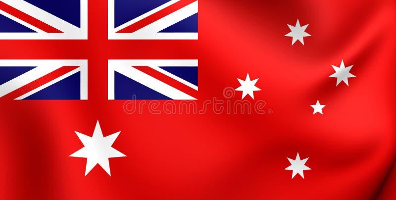 Drapeau civil d'Australie illustration de vecteur