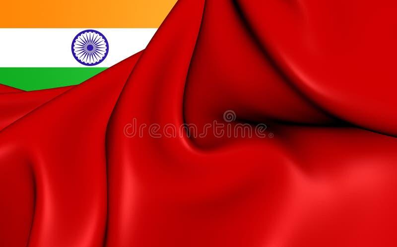 Drapeau civil d'Inde illustration libre de droits