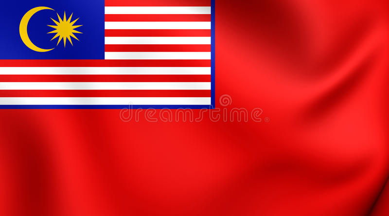 Drapeau civil de la Malaisie illustration stock
