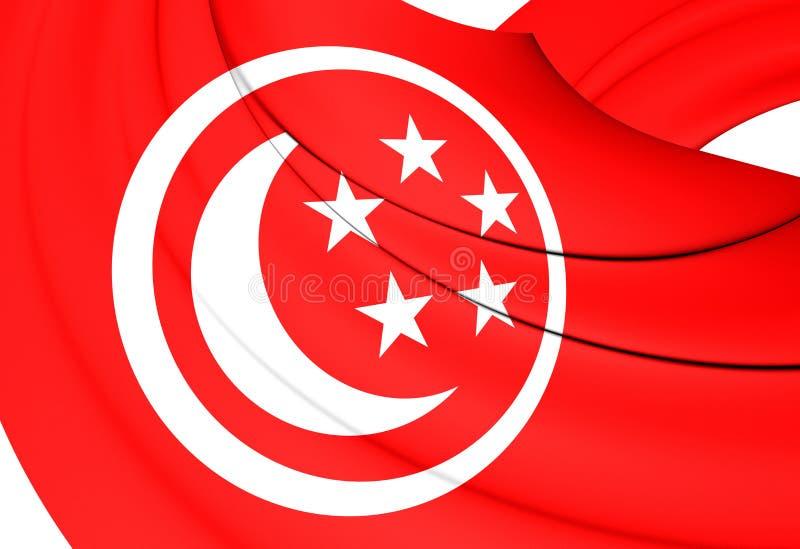 Drapeau civil de Singapour illustration stock