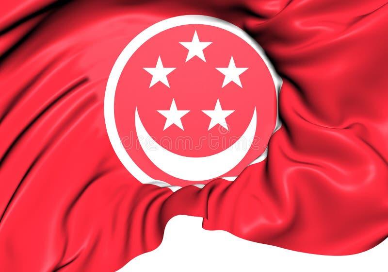 Drapeau civil de Singapour illustration libre de droits
