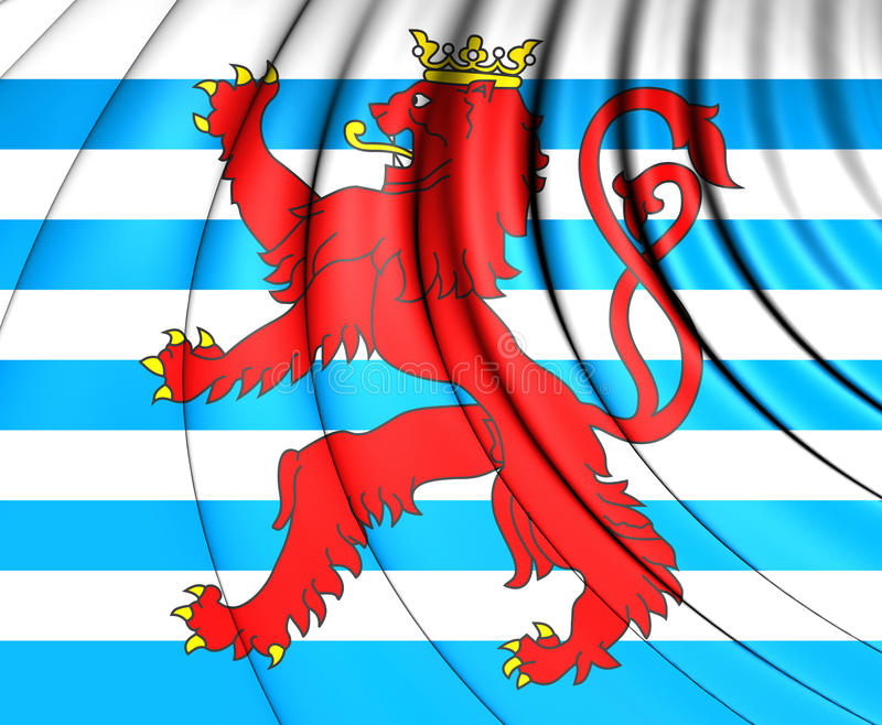 Drapeau civil du Luxembourg illustration de vecteur