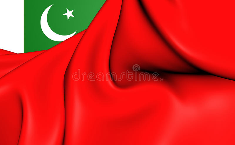 Drapeau civil du Pakistan illustration stock