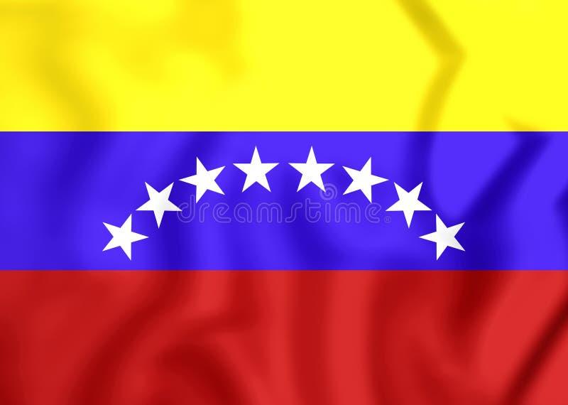 Drapeau civil du Venezuela illustration de vecteur
