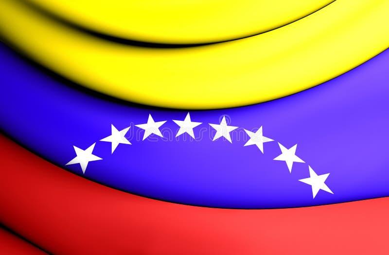 Drapeau civil du Venezuela illustration libre de droits