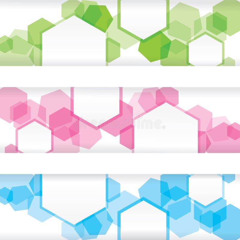 Drapeau coloré abstrait avec les trames vides illustration libre de droits