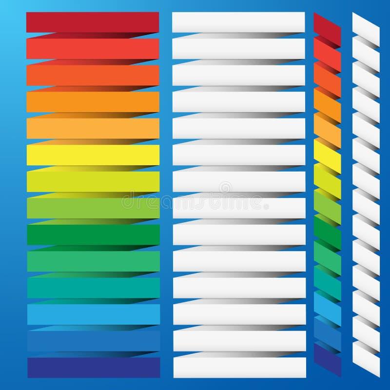 Drapeau coloré abstrait d'origami. illustration stock