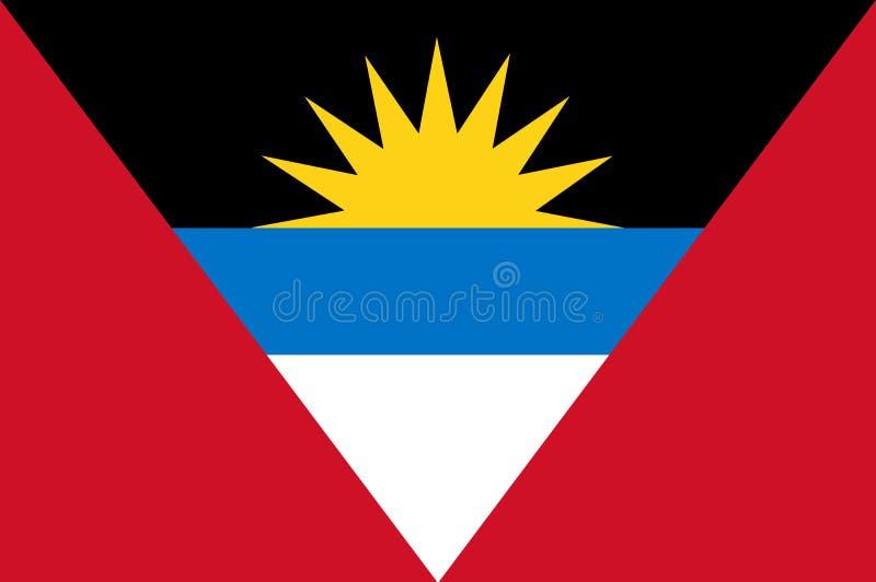 Drapeau coloré de l'Antigua-et-Barbuda illustration de vecteur