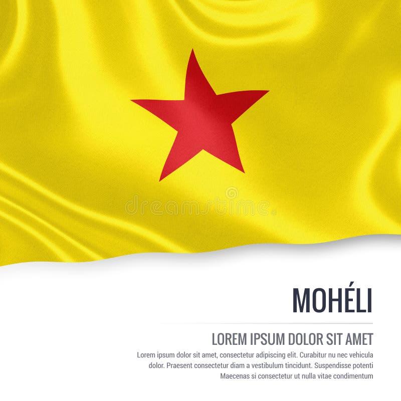 Drapeau comorien de Moheli d'état illustration de vecteur