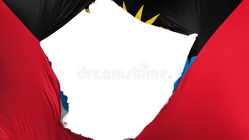Drapeau criqué de l'Antigua-et-Barbuda illustration de vecteur