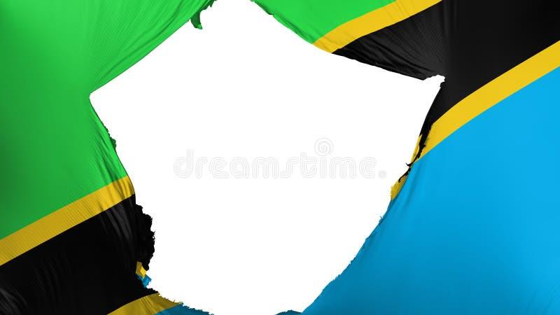 Drapeau criqué de la Tanzanie illustration de vecteur