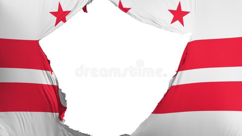 Drapeau criqué de ville de Washington DC illustration de vecteur