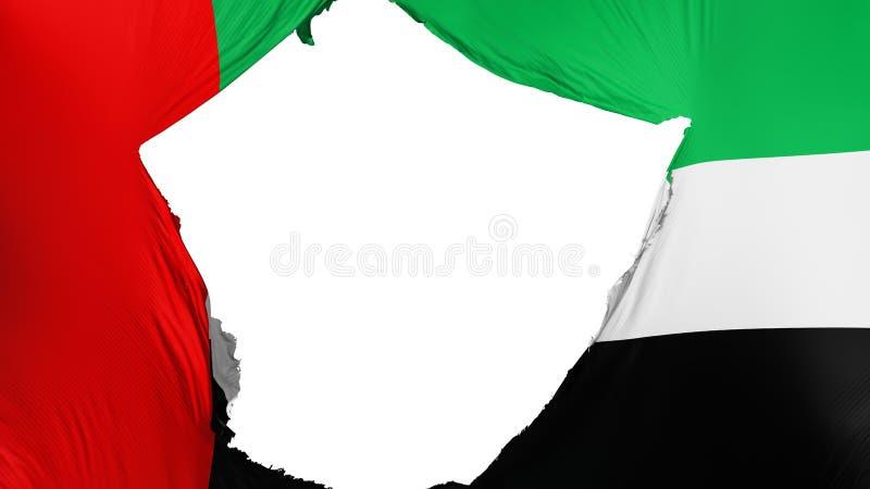 Drapeau criqué des Emirats Arabes Unis illustration de vecteur