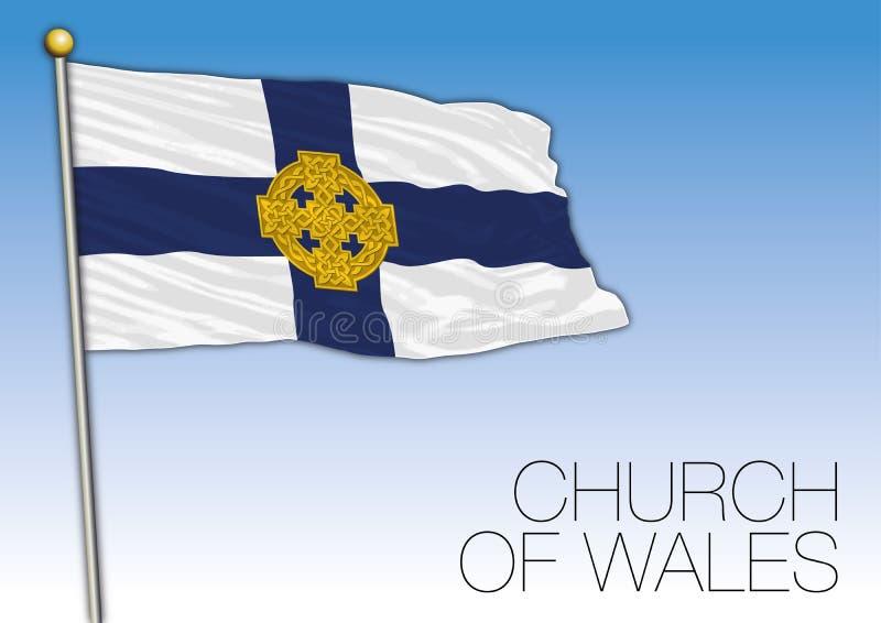 Drapeau d'église du Pays de Galles, Royaume-Uni, l'Europe illustration de vecteur