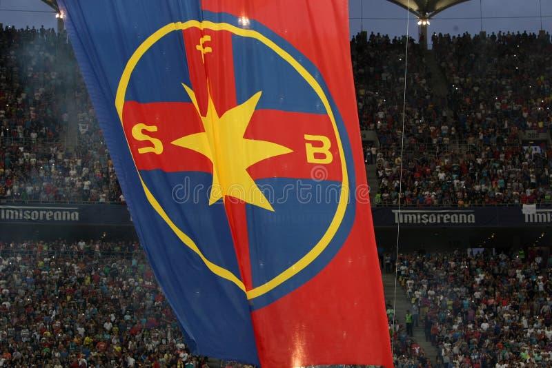 Drapeau d'équipe de Steaua Bucarest photo libre de droits