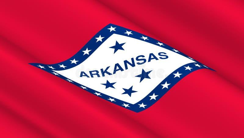 Drapeau d'état de l'Arkansas photos libres de droits