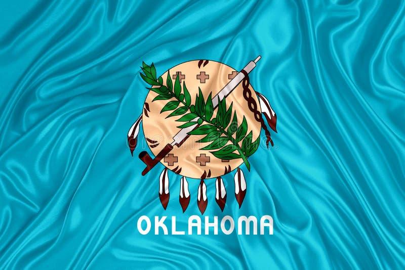 Drapeau d'état de l'Oklahoma illustration stock