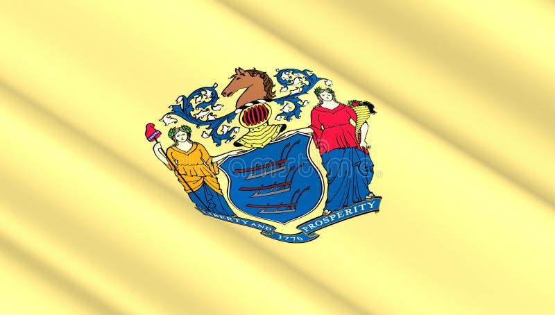 Drapeau d'état de New Jersey photographie stock libre de droits