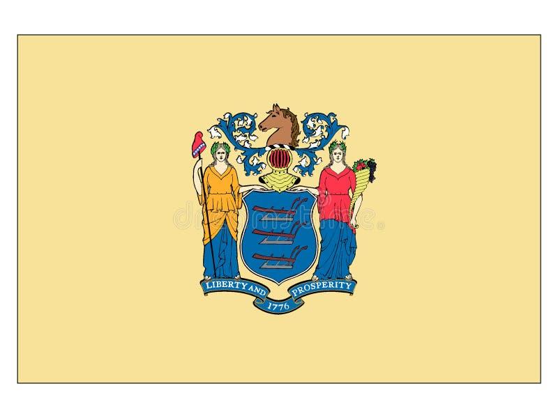 Drapeau d'état des Etats-Unis de New Jersey illustration libre de droits