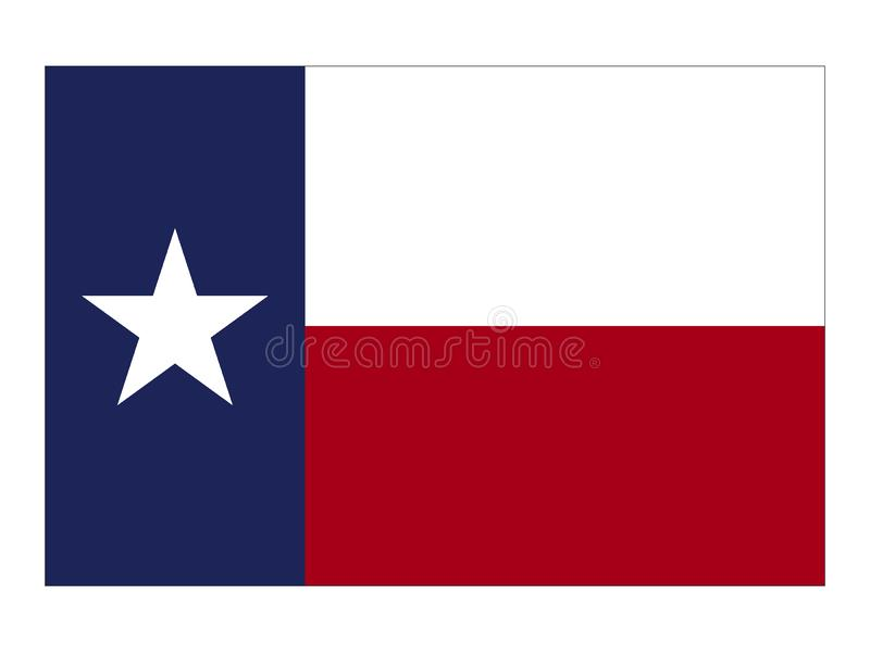 Drapeau d'état des Etats-Unis du Texas illustration de vecteur
