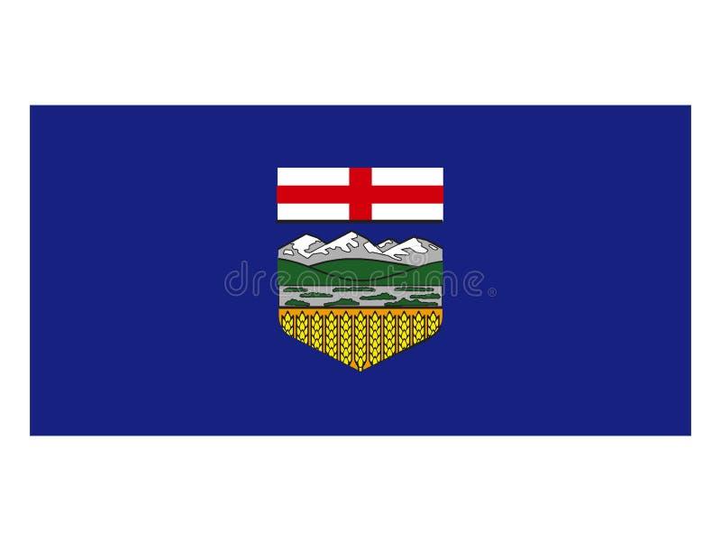 Drapeau d'état du Canada d'Alberta illustration libre de droits