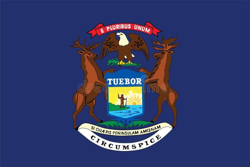 Drapeau d'État du Michigan illustration libre de droits