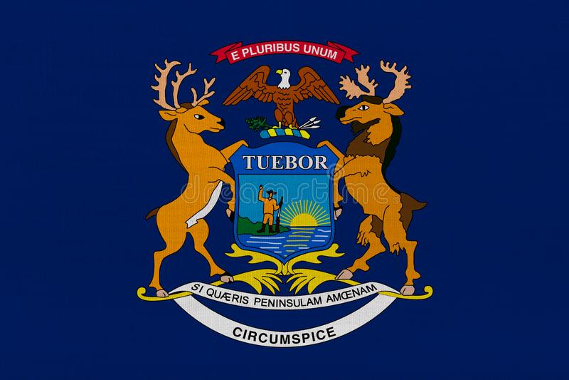 Drapeau d'État du Michigan illustration de vecteur