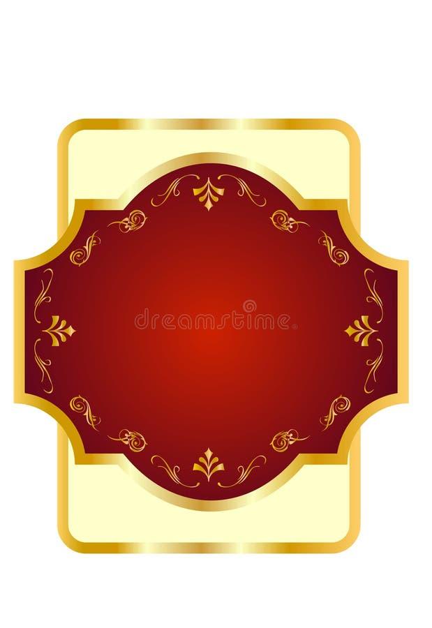 Drapeau d'étiquette pour le vin 4 illustration stock