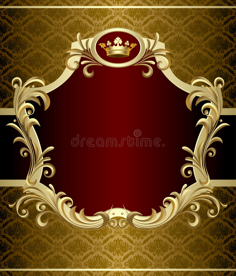 Drapeau d'or illustration stock