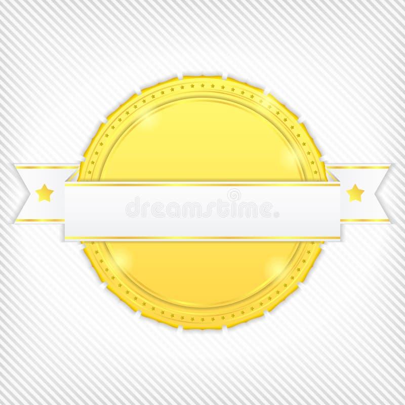 Drapeau d'or illustration de vecteur