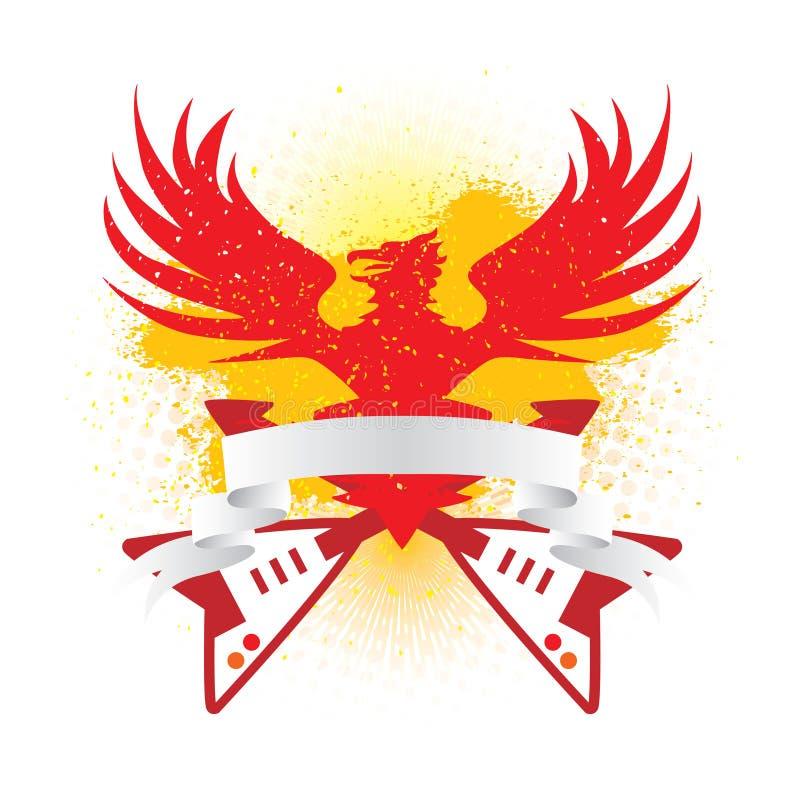 Drapeau d'aigle illustration de vecteur