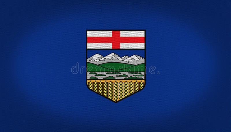 Drapeau d'Alberta illustration stock