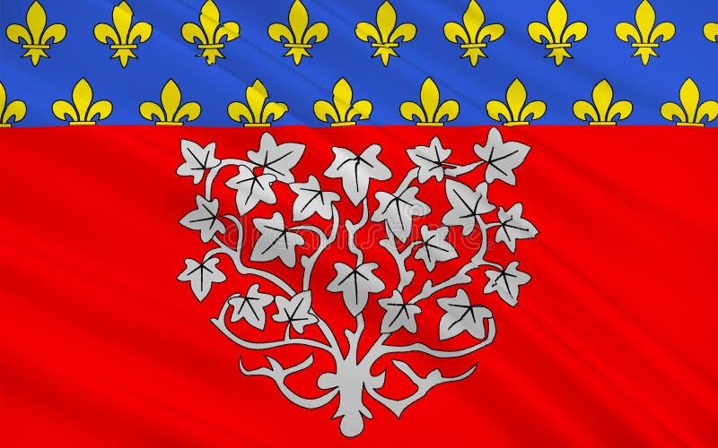 Drapeau d'Amiens, France images libres de droits