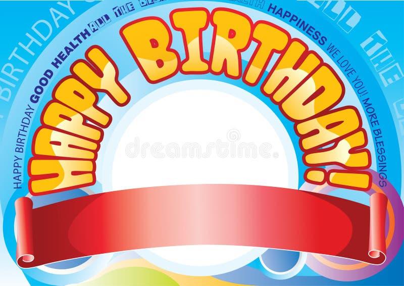 Drapeau d'anniversaire illustration stock