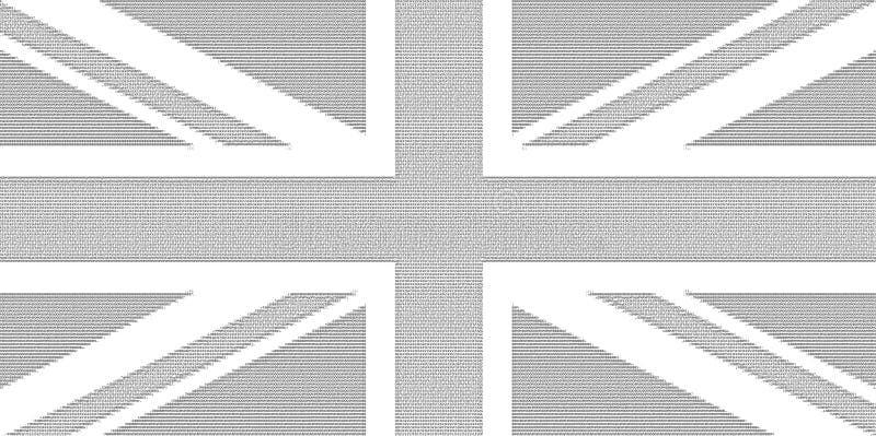 Drapeau d'art d'ASCII du Royaume-Uni R-U aka Union Jack illustration de vecteur