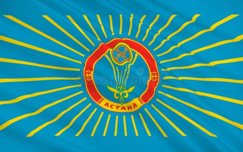 Drapeau d'Astana, Kazakhstan illustration de vecteur