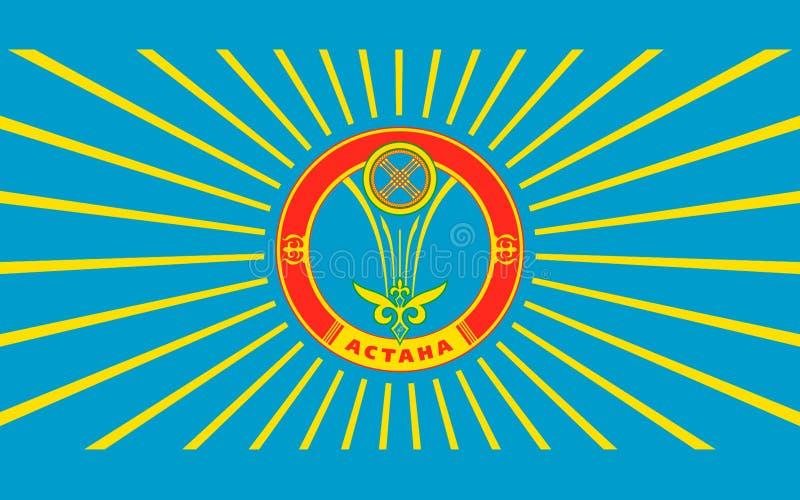 Drapeau d'Astana, Kazakhstan illustration stock