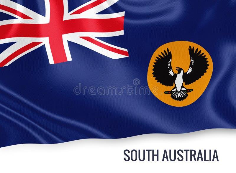 Drapeau d'Australie du sud d'état australien illustration de vecteur