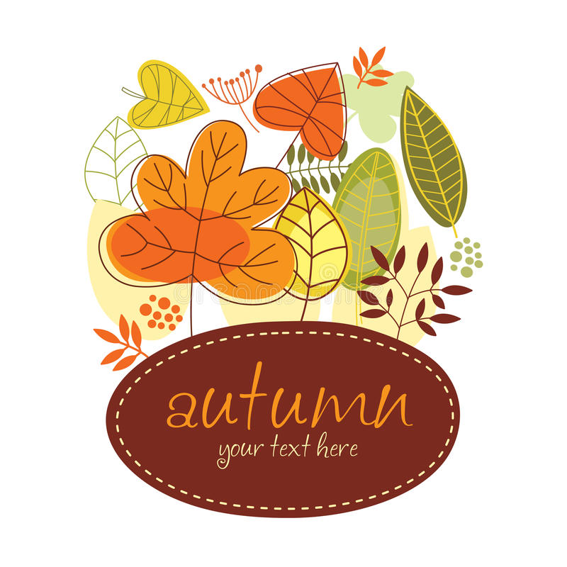 Drapeau d'automne illustration libre de droits